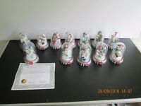 Coca Cola Polar Bears with Domes by Franklin Mint x 12