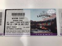Latitude tickets - Family camping - 2 Adults, 3 children