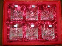 Six Schott Crystal Whisky Glasses