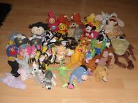 BUNCH OF DIFFERENT CHARACTER TEDDIES