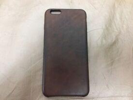 Genuine iPhone 6plus/6S Plus leather case, dark brown