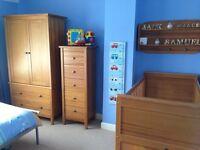 Mamas and Papas Hampton Oak Nursery Furniture