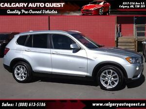 2013 BMW X3 xDrive28i AWD/NAVI/B.CAM/LEATHER/ROOF
