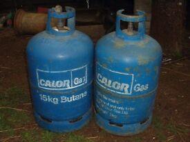 2 X CALOR GAS 15KG BUTANE CYLINDERS APPROX HALF FULL
