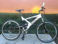 Raleigh Lithium Full Suspension Double Disk Mountain Bike Aluminium
