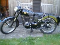 1954 BSA C10 C10L Four Speed 250cc Classic Vintage Motorcycle.