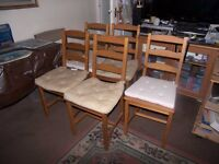 5 chairs very good condition