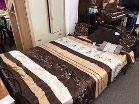 Cast Iron Bed + Mattress