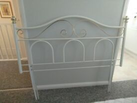 White and Gold Headboard