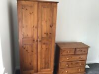 Wardrobe, chest of drawers & bedside table- separate or together
