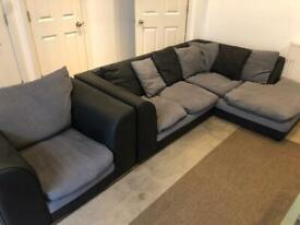 L Shapes Sofa with Chair