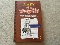 Diary of A Wimpy Kid The Third Wheel by Jeff Kinney hardback book New