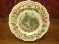 Royal Doulton 'The Plan' Plate from The Brambly Hedge Collection