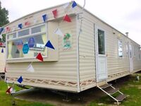 Cheap 3 bed Double Glazed & Heated & Freestanding sofa static caravan @ Seawick clacton essex kent