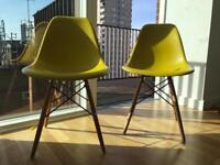 2 Dwell Eiffel mustard chairs