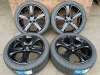 "20"" RANGE ROVER SPORT ALLOY WHEELS & NEW TYRES REFURBISHED GLOSS BLACK 5x120 VW T5"