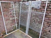 Shower enclosure 760mm - White aluminium + Tempered glass