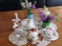60 Piece Beautiful China Tea Set Hire