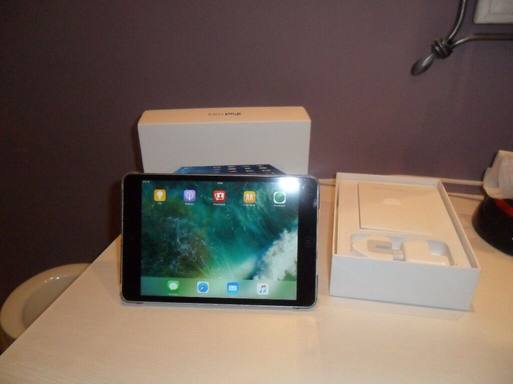 iPad mini 2 32gig wifiin Failsworth, ManchesterGumtree - iPad mini 2 32gig wifi in very good condition also come with a case also original charger and all boxed wanting £165 ovno i am also selling a iPad mini 2 cellular check that add out tel 07513010184 if you cant get through try tel 07562642793 or...