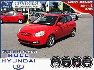 2008 Hyundai Accent GL Sport, TOIT OUVRANT, A/C, BAS KILO, À VOI