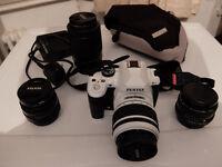 pentax k-r with lenses