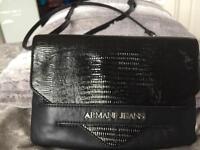 Black leather Armani shoulderbag