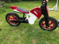 Solid wood balance bike