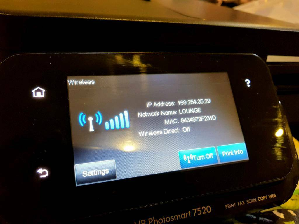 Wireless Multifunction HP Printer Scanner Copier + 6 New Cartridges