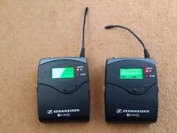 Sennheiser EW300 G2 and EW100 G2 Bodypack transmitters