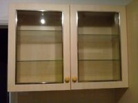 Display Wall Cabinet / Cupboard with 4 Glass Shelves