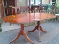Regency dining table,Yew finish,extendable,length 160-210cm,width 95cm,only £60!!!!