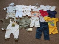 bundle of baby boy clothes New Born to 18 months- 21 pieces £10