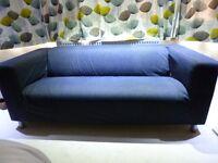 IKEA KLIPPAN 2 SEATER SOFA WITH DENIM COVER