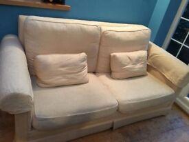 Cream Sofa with cushions