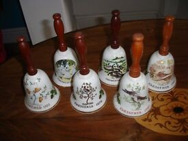 Royal Grafton Bells. Full set 12 days of Christmas
