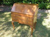 Walnut antique desk cabinet