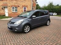 2012 NISSAN NOTE 1.5 TEKNA DIESEL, SAT NAV, CRUISE, LEATHER, £20 TAX, 70 MPG, MOT APRIL 2019
