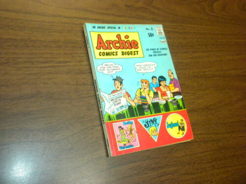 ARCHIE COMICS DIGEST MAGAZINE #2 Full Color BETTY AND VERONICA JUGHEAD 1973