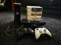XBox 360 S with Kinect and 12 games - possible delivery