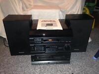 Panasonic Record Player sg hm22, hifi unit Twin tape deck , Stereo radio