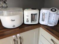 Tommee tippee perfect prep machine, steamer blender & steriliser