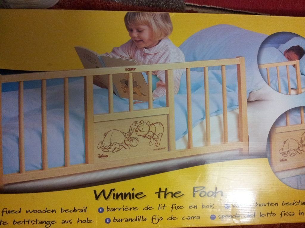 Winnie The Pooh Wooden Bed Rail Protector Guard With Eeyore Design