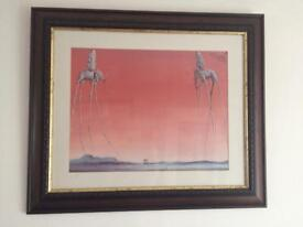 Picture by Salvador Dali in Dark Oak frame.