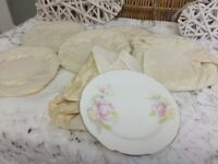 REDUCED Vintage Brand New Royal Wessex Camellia 22k Cake Plates