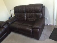 Electric Recliner 2 Seat Leather Sofa