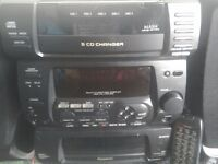 A Panasonic 5cd changer play back recorder tape remote
