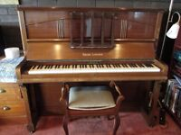 Beautiful upright piano with stool and trolly