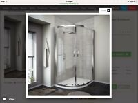 1200x800 quadrant shower enclosure, shower tray and shower. **BRAND NEW** in box.