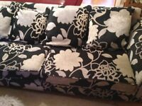 dfs large 3 seater sofa with matching swivel chair
