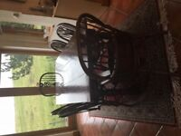 Oak Refectory Dining Table and Eight Chairs